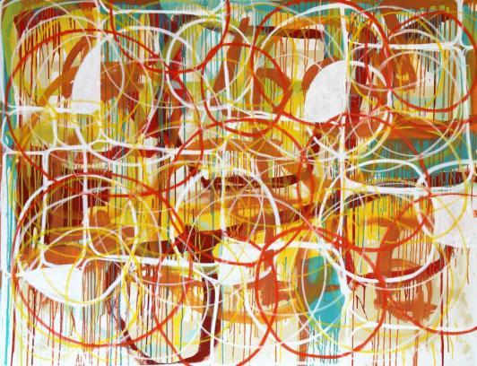 Gabriel Nehemy, Sem título, óleo e acrílica sobre tela, 140 x 180cm