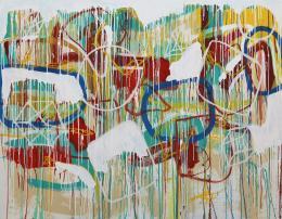 Gabriel Nehemy, Sem título, 2016, óleo e acrílica sobre tela, 140 x 180cm