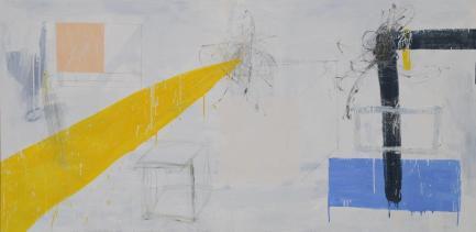 Gabriel Nehemy, Beyond Of, 2016, óleo sobre tela, díptico, 110 x 220 cm