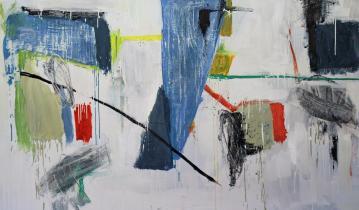 Gabriel Nehemy, White Landscape, óleo sobre tela, díptico, 110 x 220 cm