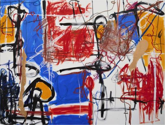 Gabriel Nehemy, Azul II, 2016, óleo e acrílica sobre tela, 140 x 180cm