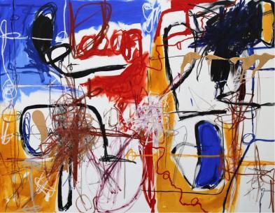 Gabriel Nehemy, Azul I, 2016, óleo e acrílica sobre tela, 140 x 180cm