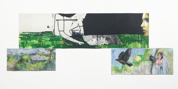 Mayra Cimet Dattoli, Sem título, 2016. Desenho e Colagem. 80x32 cm