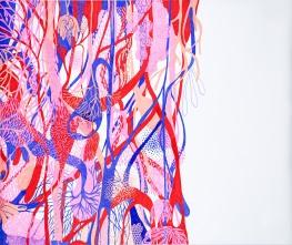 Maria Luiza Mazzetto . Sem título, da série É a vida . 2016 . marcadores sobre papel . 180 x 150 cm . foto: Vinícius Postiglioni