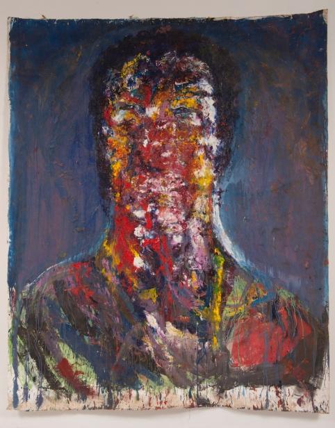 Paulo Lobo, Autorretrato n1, 2016, série autorretratos, óleo sobre lona de algodão, 260x210cm