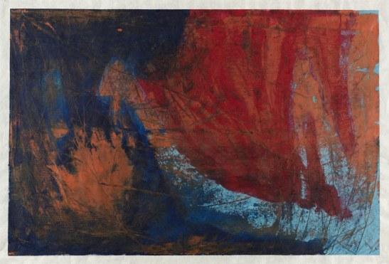 Michelle Rosset, sem título, 2017. Acrílico sobre papel Japonês. 64 x 94 cm.