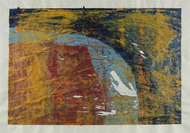 Michelle Rosset, sem título, 2017. Acrílico sobre papel vegetal. 70 x 99 cm.