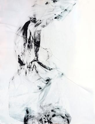 Antonio Bokel . Gravura pano-concreto, 2017. Monotipia. 107 x 88,5 cm