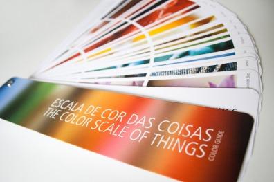 Letícia Lampert . Escala de cor das coisas, 2009 . livro de artista