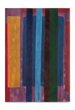 Milton Blaser . Barras Etéreas 2017 Acrílica sobre Papel 100 x 70 cm
