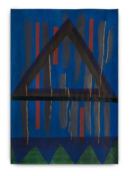Milton Blaser . Triângulo sobre Formas 2017 Acrílica sobre Papel 100x 70 cm