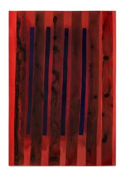 Milton Blaser . Campos Vermelhos 2016 Acrílica sobre Papel 100 x 70 cm