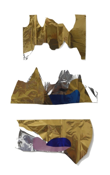 Thais Stoklos três dourados, 2017. Série: Tule . tule, 123 x 80 cm