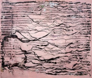 Simone Fontana Reis . Metanóia depois da tempestade, 2017 . acrílica sobre tela . 217 X 257 cm