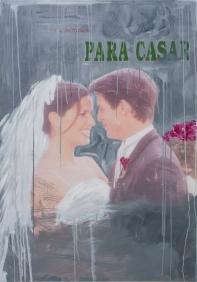 01. Luana Lins, Para casar, 2015, série Sabrinas, impressão e óleo sobre tela, 130 x 90 cm