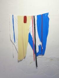 Fernando Soares, Capa 2, 2018. Tinta e nylon . 110x100 cm