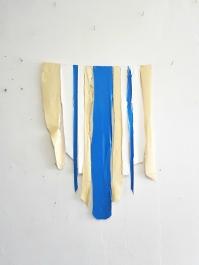 Fernando Soares, Capa 4, 2018. Tinta e nylon . 60x55 cm