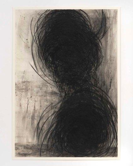 Gustavo Aragoni, Sem título, 2018 . Pastel e carvão sobre papel . 100x70cm