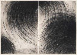 Gustavo Aragoni, Sem título, 2018 . Pastel e carvão sobre papel . 100x140cm (díptico)
