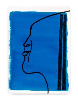 Milton Blaser . Seresbrasileiros seressurreais Milton, 2017 acrílica, carvão e bastão a óleo sobre papel 59,5x41,5 cm