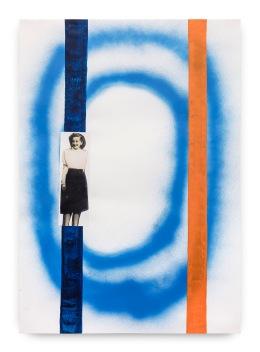 Milton Blaser . Memória sem dor 2, 2017 spray, ecoline e colagem em papel 100x70cm