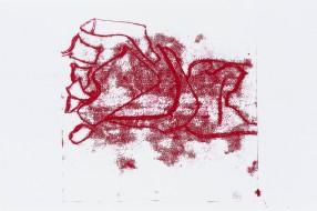 Milton Blaser . Dessemelhanças, 2018 impressão em papel arroz com tinta gráfica 34,5x53cm