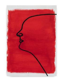 Milton Blaser . Seresbrasileiros seressurreais Lilian, 2017 acrílica e carvão sobre papel 59,5x41,5 cm exposição no Senac Jabaquara 2018