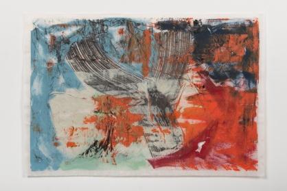 Michelle Rosset, sem título, 2017, série Vestígios. Acrílica sobre papel japonês. 79 x 107 cm