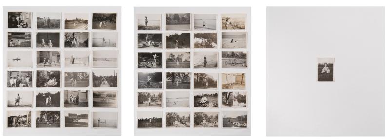 Miriam Bratfisch Santiago, Nina, 2016. Tríptico. folha de álbum com proteção transparente. 82 x 73cm