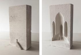 Paulo Sica   Templo nº3 (2019) - concreto celular . 60 x 30 x 20cm