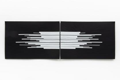 Michelle - Michelle Rosset, sem título, 2018, série Genesis. Fita sobre papel. 70 x 100 cm cada (díptico)