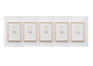 Miriam Bratfisch Santiago, Jacarezinho, 2016. Série: Retratos distantes. Aquarela sobre papel e fotografia. 31 x 132,5 cm