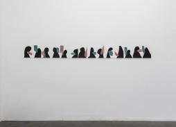 Silvia Jábali, sem título, 2018, acrílica sobre papel, políptico, 30 x 21 cm cada