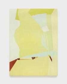 Sueli Espicalquis, sem título, 2016, óleo e cera sobre tela, 140 x 100 cm